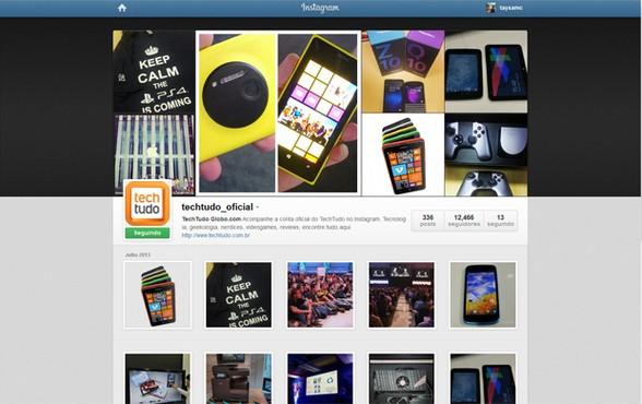 screenshot de Instagram