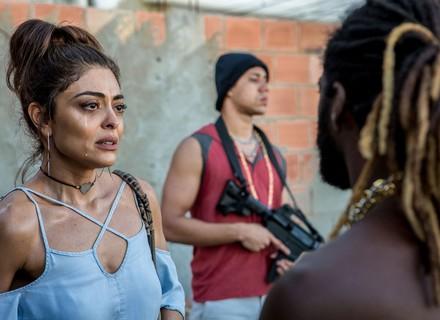 Bibi pede proteção para Rubinho ao chefão da favela