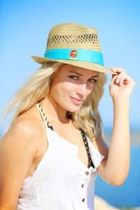 Reeva Steenkamp no reallity show Ilha do Tesouro (Foto: Divulgação)