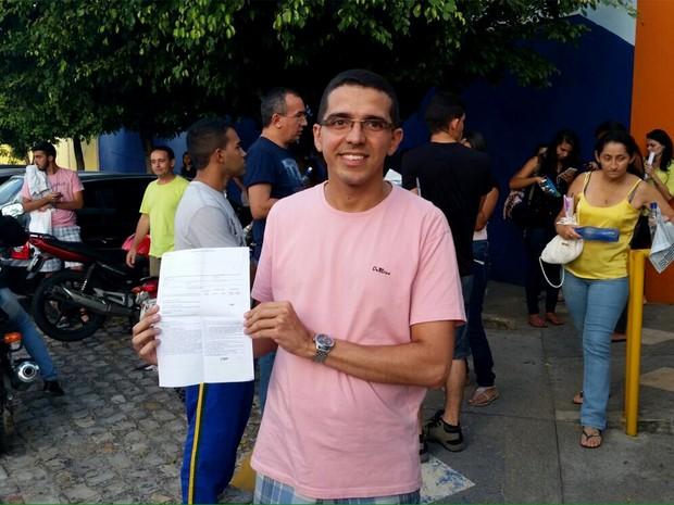 Fábio Henrique de Andrade saiu do 1º dia de prova para o casamento, na Grande Natal (Foto: Shamala Jewur)