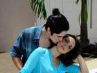 Sabrina Korgut, de 36 anos, e Gabriel Leone, de 20, mostram a sintonia que une o casal há nove meses