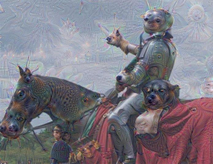 Exemplo de alteração de imagem pelo algoritmo do Google Deep Dream (Foto:Reprodução/Telegraph)