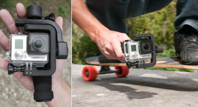 Estabilizador é compatível com GoPro e funciona como bateria extra para a câmera (Foto: Reprodução/Kickstarter)