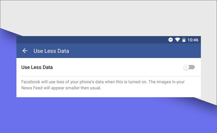 Suposta nova ferramenta do Facebook para economizar dados (Foto:Reprodução/Android Police)