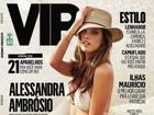Alessandra Ambrósio ilustra a capa da 'VIP' de julho