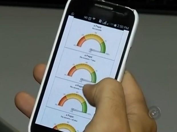 Aplicativo desenvolvido ajuda a controlar os gastos mensais (Foto: Reprodução / TV TEM)