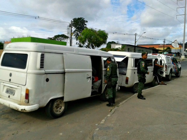 Carvão foi encontrado em duas vans (Foto: Divulgação/ Batalhão Ambiental)