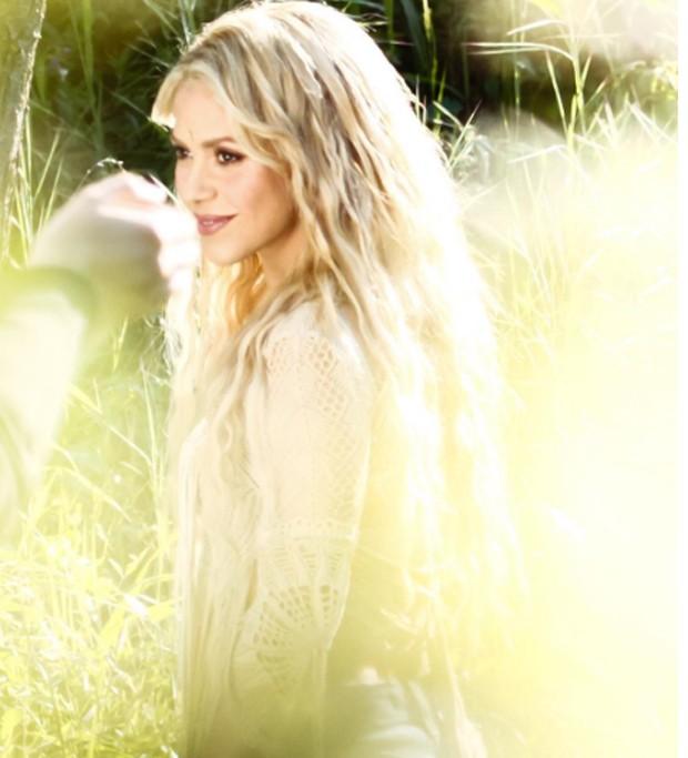 Shakira em gravação do clipe 'Me Enamoré' (Foto: Reprodução/Instagram)
