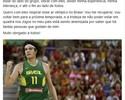 Fora da Rio 2016, Varejão diz: 'Quero respirar esse ar olímpico no Brasil'