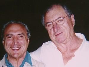 Amigo de infância  James Antônio Milanelo e Michel Temer (Foto: Arquivo pessoal/James Milanelo)