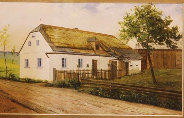 Farmstead, obra pintada por Adolf Hitler, em 1914 (Foto: Reprodução)