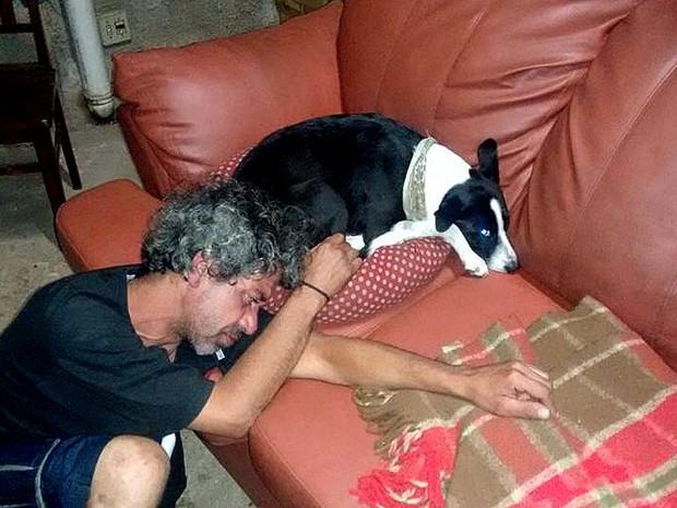 Nina reencontra o dono em Santa Gertrudes (Foto: Vanderlei Bitencourt/Arquivo Pessoal)