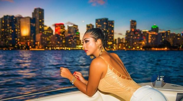 Amanda Djehdian em Miami (Foto: Amanda Djehdian em Miami)