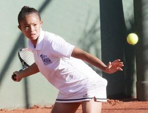 Emily Chang venceu sua partida e disputa a final do tênis neste sábado (Foto: Cleomar Macedo / Smel Mogi)
