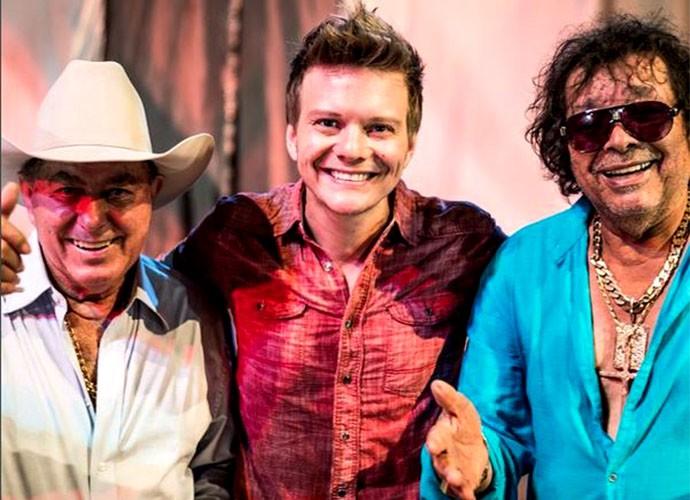 Michel Teló e Milionário e José Rico: admiração! <3 (Foto: Arquivo Pessoal)