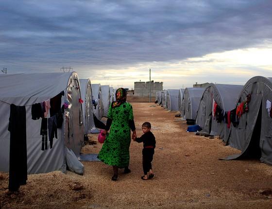 Abrigo para refugiados da guerra da Síria em Sanliurfa, Turquia, em foto de 2014 (Foto: Gokhan Sahin/Getty Images)