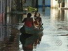 Famílias estão preocupadas com a cheia do rio Tocantins, em Marabá