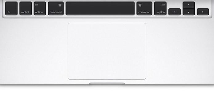 Macbooks têm sempre trackpads muito bons (Foto: Divulgação)