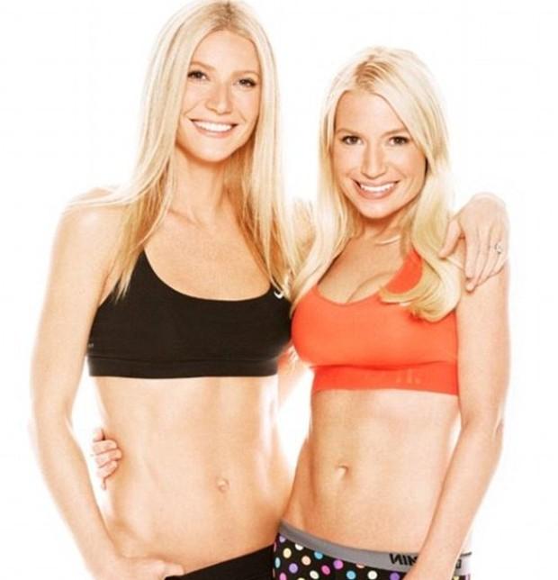 Gwyneth Paltrow e sua personal trainer, Tracy Anderson, em 2014 (Foto: Reprodução)
