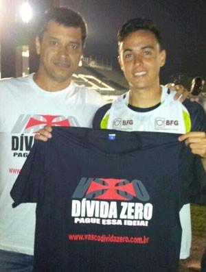Campanha Vasco dívida zero com Montoya (Foto: Andre Casado)