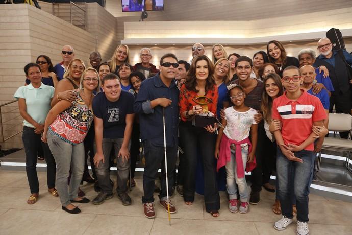 Fátima com a plateia do programa  (Foto: Ellen Soares/Gshow)