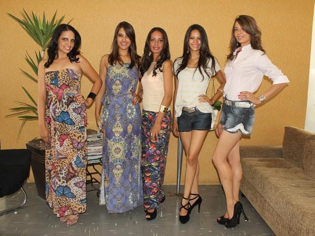 Modelos do Norte de Minas. (Foto: Valdivan Veloso/G1)