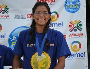 Sarah Marques conquistou o ouro nas provas (Foto: Felipe Martins/GLOBOESPORTE.COM)