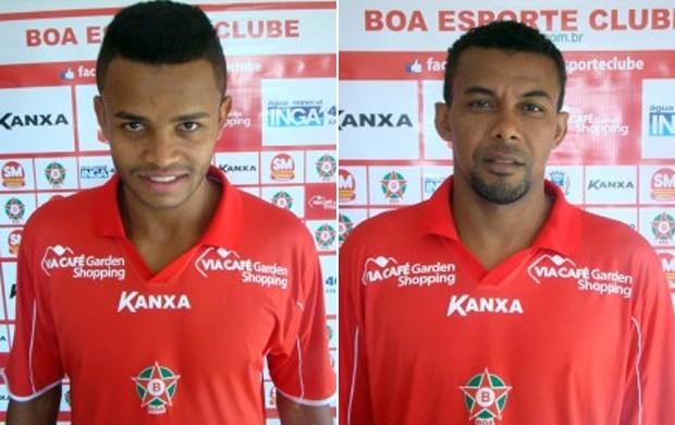 Pedro Rosa (à esq) e Marcelo Cláudio (à dir) foram anunciados pelo Boa Esporte (Foto: Assessoria de Imprensa Boa Esporte)