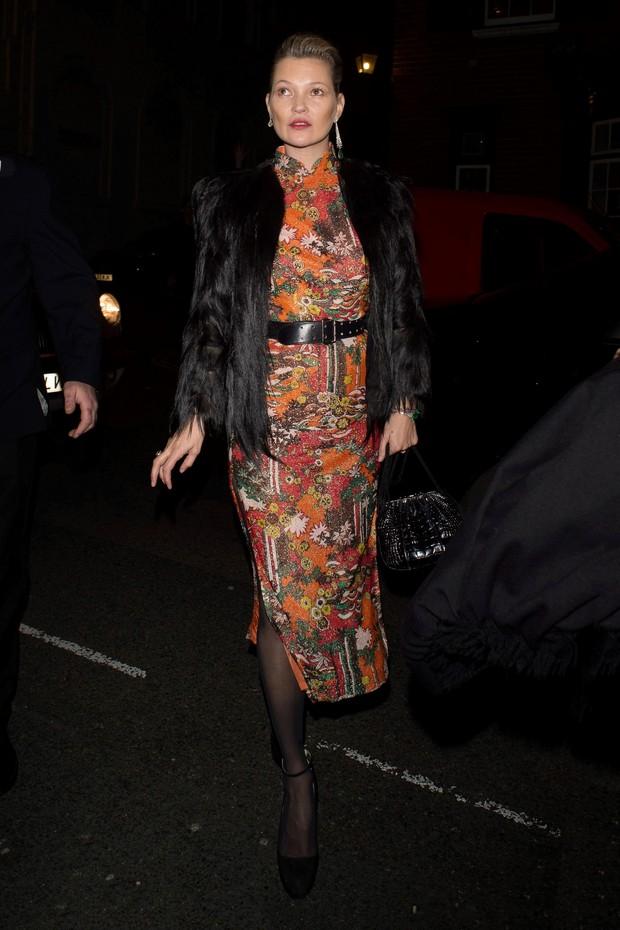 Kate Moss em Londres, na Inglaterra (Foto: AKM-GSI/ Agência)