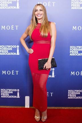 Sofia Vergara em evento em Los Angeles, nos Estados Unidos (Foto: Robyn Beck/ AFP)