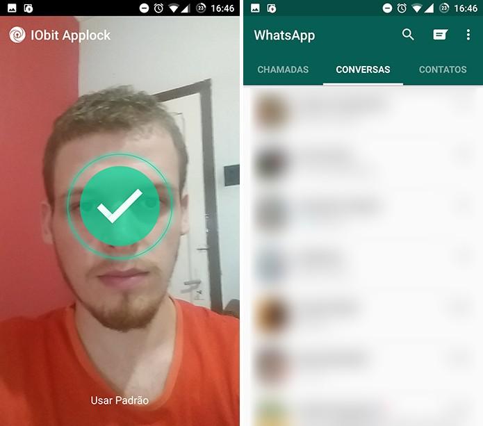 IObit Applocker desbloqueará o app ao reconhecer o rosto do usuário (Foto: Reprodução/Elson de Souza)