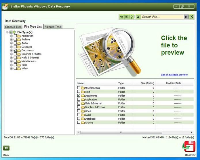 Utilitário filtra tipos de arquivos excluídos para facilitar acesso (Foto: Reprodução/TechTudo) (Foto: Utilitário filtra tipos de arquivos excluídos para facilitar acesso (Foto: Reprodução/TechTudo))