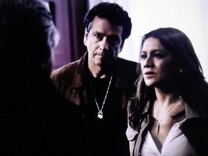 Rosa e Pedroso interrogam Bernardo (Foto: O Rebu / TV Globo)