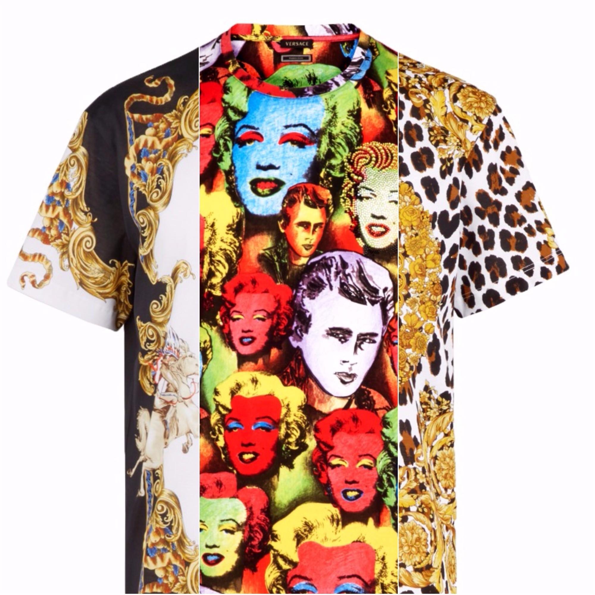 A nova coleção de camisetas estampadas da Versace (Foto: Divulgação)