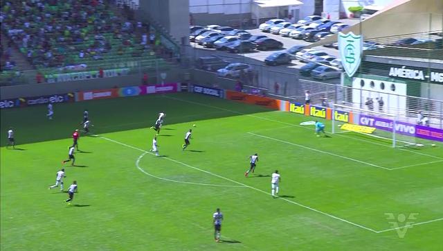 Santos perde para o América Mineiro (Foto: Reprodução/TV Tribuna)