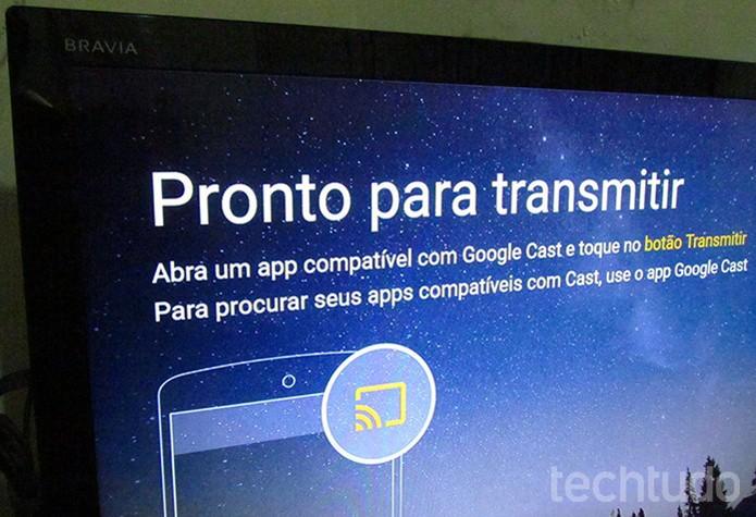 TV avisa quando configuração termina (Foto: Paulo Alves/TechTudo )