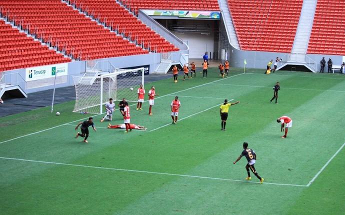 Betinho marcou o gol que garantiu a vitória para o Sobradinho (Foto: Milo Rezende / Sobradinho EC)