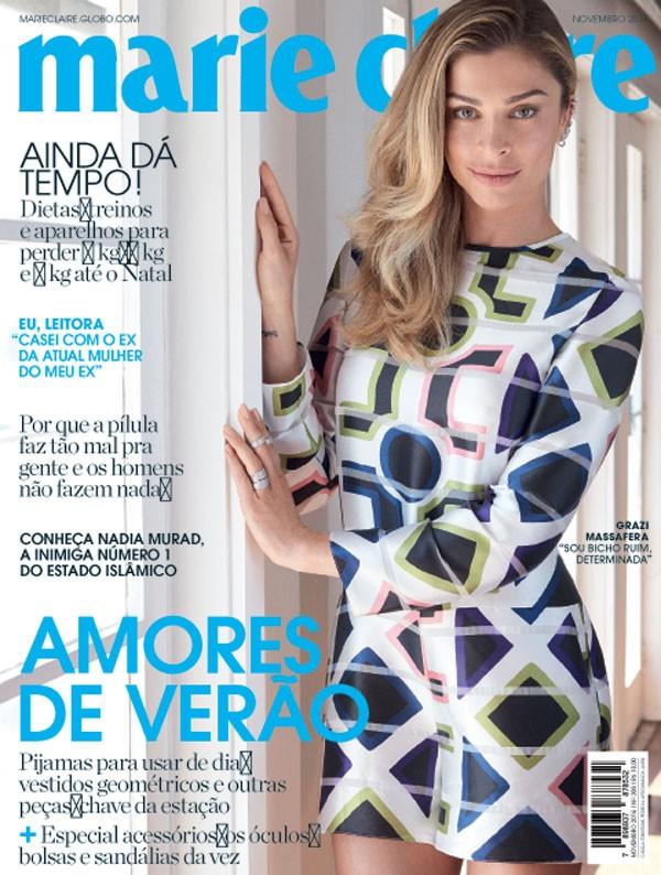 Grazi Massafera é a estrela da capa de novembro da Marie Claire (Foto: Bob Wolfenson / Edição de moda: Larissa Lucchese)