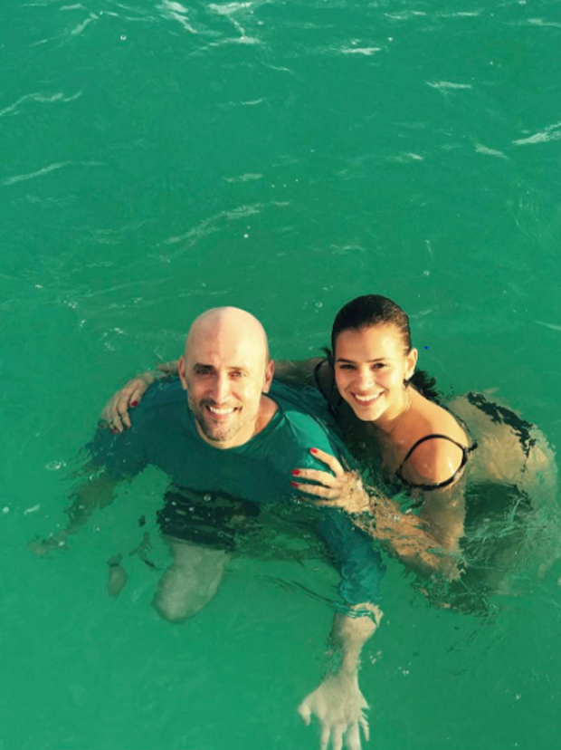 Bruna Marquezine e Paulo Gustavo no Caribe (Foto: Reprodução/Instagram)