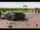 Mulher morre em colisão entre carro e caminhão em Uberaba