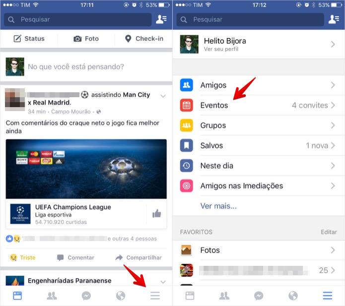 Acesse os eventos do Facebook (Foto: Reprodução/Helito Bijora)
