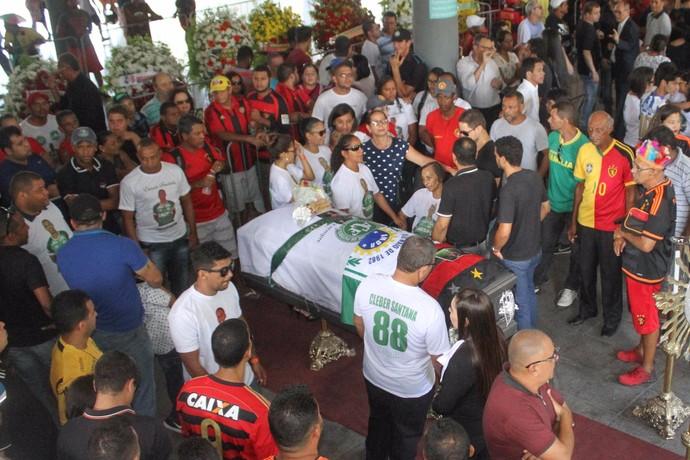 Cléber Santana Velório (Foto: Marlon Costa / Pernambuco Press)