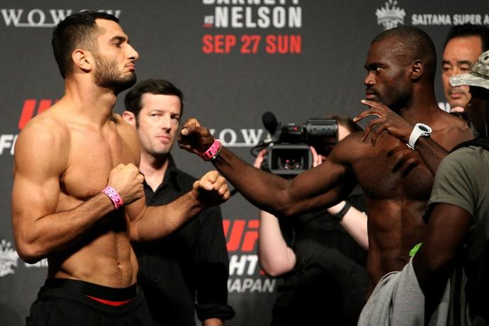Na última vez em que se enfrentaram, em setembro de 2015, Uriah Hall nocauteou Mousasi no primeiro round (Foto: Getty Images)