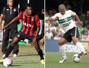 Douglas Coutinho e Alex coritiba atletico-pr (Foto: Editoria de Arte)