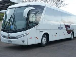 Ônibus usado para os serviços do Juizado Itinerante do Distrito Federal (Foto: Tribunal de Justiça do Distrito Federal/Divulgação)
