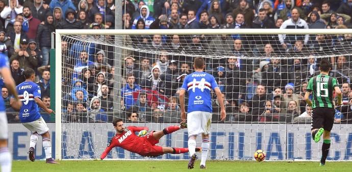Luis Muriel Sampdoria x Sassuolo (Foto: EFE)