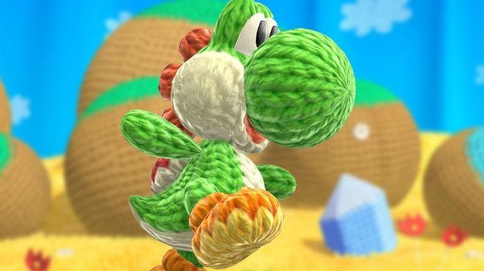 Áreas secretas de Yoshis Woolly World deixam o dinossauro gigante (Foto: Reprodução/IGN)