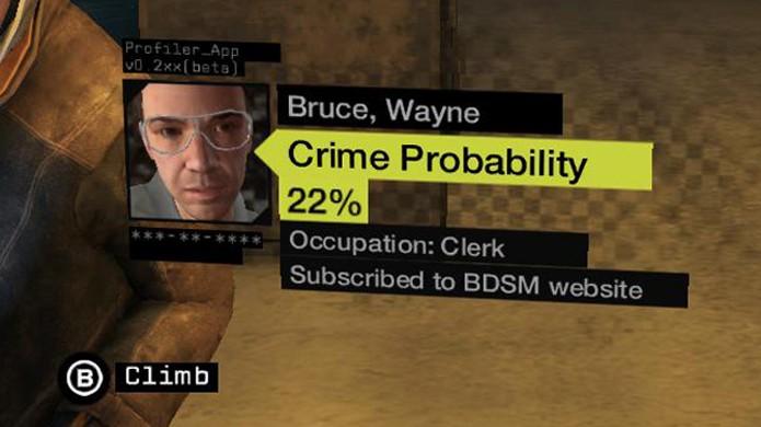 Uma pequena piada com Bruce Wayne sugere que Batman goste um pouco demais de couro (Foto: Kotaku)