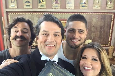 Emilio Orciollo Netto, Marcelo Serrado, Daniel Rocha e Mariana Santos  (Foto: Arquivo pessoal)