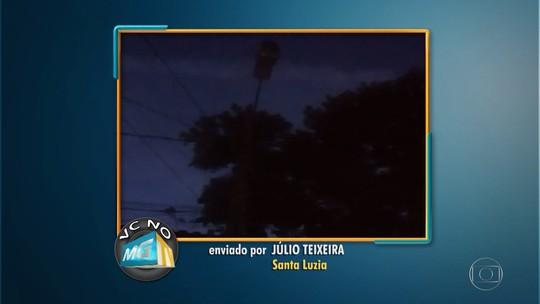 Escuridão em rua do bairro São Benedito, em Santa Luzia, é motivo de reclamação